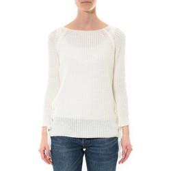 textil Mujer Jerséis De Fil En Aiguille Pull Lacets Blanc Blanco