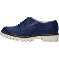 Zapatos Mujer Derbie Hb Helene elegantes azul cuero AF03 azul