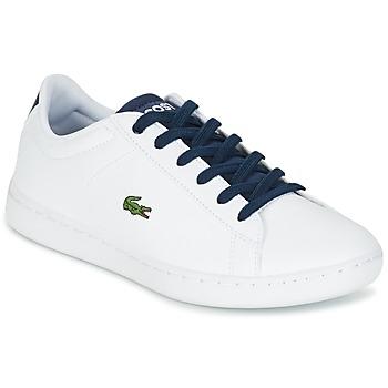 Zapatos Niños Zapatillas bajas Lacoste CARNABY EVO Blanco / Marino