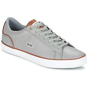 Zapatos Hombre Zapatillas bajas Lacoste LEROND 3 Gris / Marrón