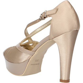 Zapatos Mujer Sandalias Sergio Cimadamore sandalias beige satén charol AF482 beige