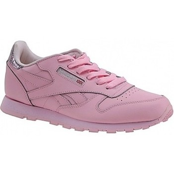 Zapatos Niños Multideporte Reebok Sport Classic Leather Metallic rosa
