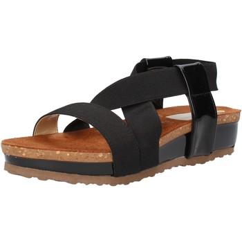 Zapatos Mujer Sandalias Olga Rubini sandalias negro textil charol AF792 negro