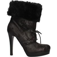 Zapatos Mujer Botines Pin Ko PINKO botines negro gamuza piel AF906 negro