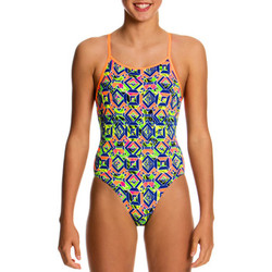 textil Niña Bañador Funkita Diamonds Back One Piece Multicolor