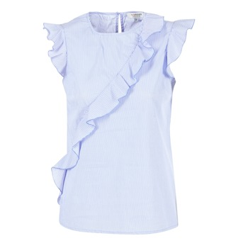 textil Mujer Tops / Blusas Morgan MARFIZ Azul / Blanco
