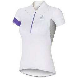 textil Mujer camisetas manga corta Odlo Stand-Up Collar Short Sleeve 1/2 Zip Isola 410911-10000 White