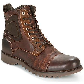 Zapatos Hombre Botas de caña baja Jack & Jones DEAN LEATHER Marrón