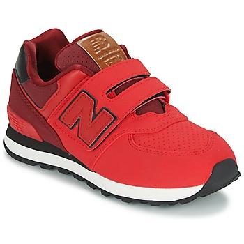 Zapatos Niños Zapatillas bajas New Balance KV575 Rojo / Negro