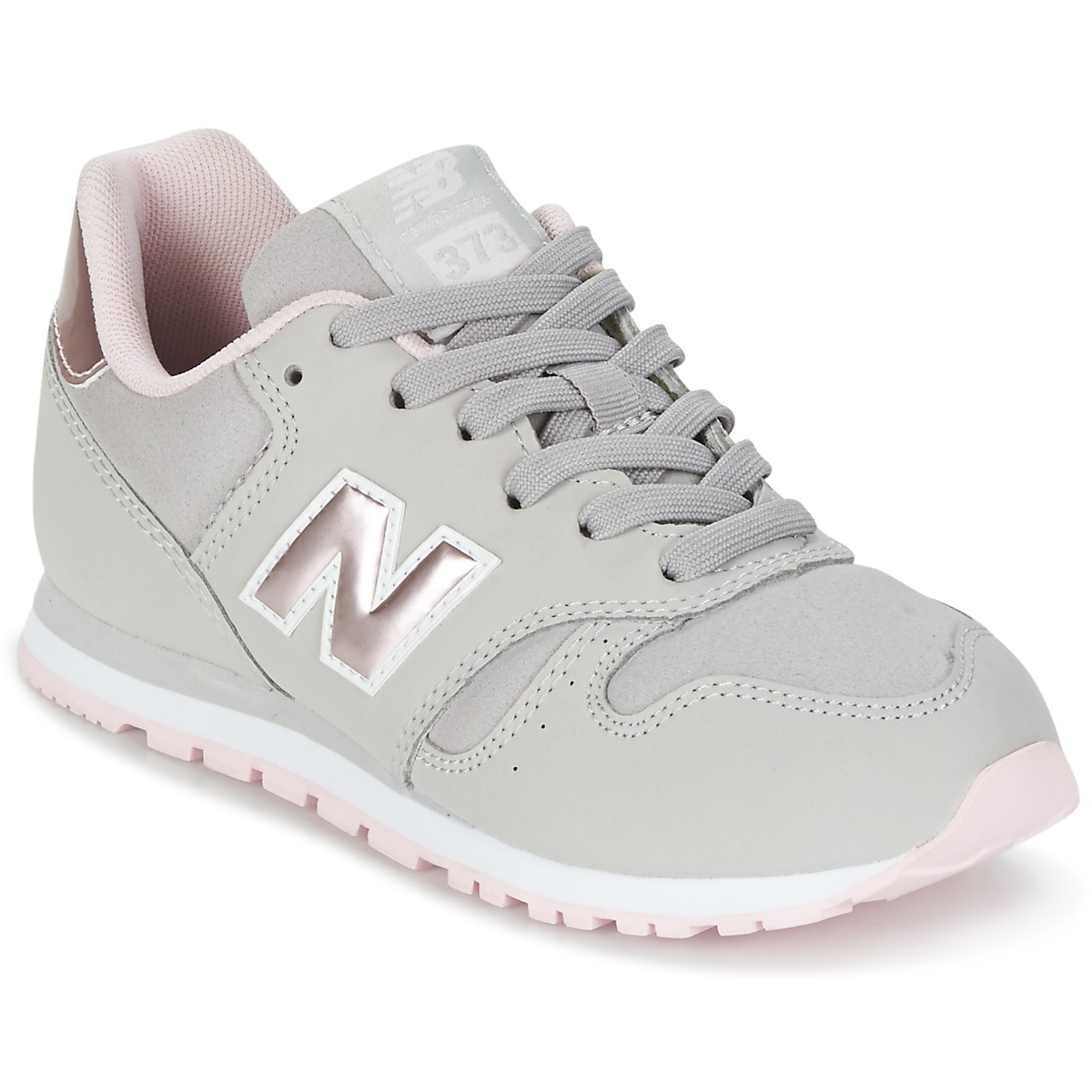zapatillas new balance gris y rosa