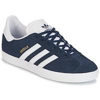 Zapatos Niño Zapatillas bajas adidas Originals GAZELLE J Marino