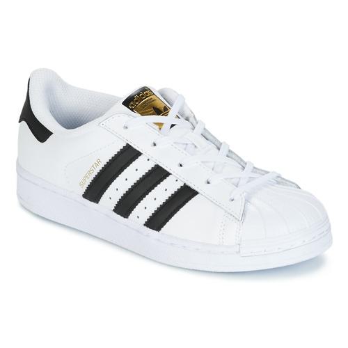Zapatos Niños Zapatillas bajas adidas Originals SUPERSTAR Blanco / Negro