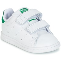 Zapatos Niño Zapatillas bajas adidas Originals STAN SMITH CF I Blanco / Verde