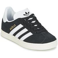Zapatos Niño Zapatillas bajas adidas Originals GAZELLE C Negro
