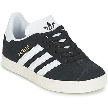 Zapatos Niños Zapatillas bajas adidas Originals GAZELLE C Negro