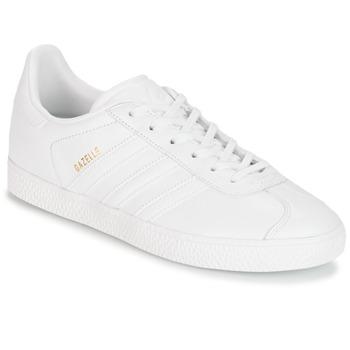Zapatos Niños Zapatillas bajas adidas Originals GAZELLE J Blanco