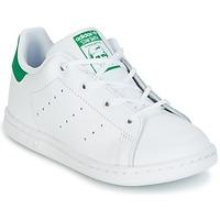 Zapatos Niños Zapatillas bajas adidas Originals STAN SMITH I Blanco / Verde
