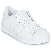 Zapatos Niña Zapatillas bajas adidas Originals SUPERTSAR Blanco