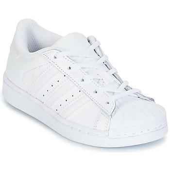Zapatos Niños Zapatillas bajas adidas Originals SUPERTSAR Blanco