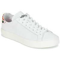 Zapatos Mujer Zapatillas bajas adidas Originals Court Vantage Blanco / Flores