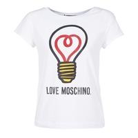textil Mujer camisetas manga corta Love Moschino W4F3038E1512 Blanco