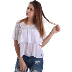 textil Mujer Tops / Blusas Gaudì Jeans 73BD47204 Blusa Mujeres Blanco Blanco