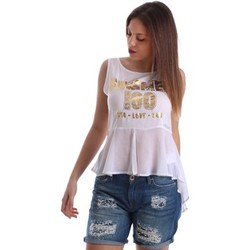 textil Mujer camisetas sin mangas Gaudì Jeans 73BD64249 Canotta Mujeres Bianco