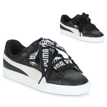 Zapatos Mujer Zapatillas bajas Puma Basket Heart DE Negro / Blanco