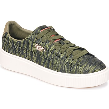 Puma Basket Platform Bi Color Kaki