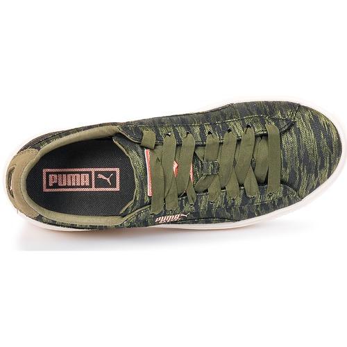 Bajas Zapatos Platform Kaki Zapatillas Color Mujer Puma Bi Basket AqcR54Lj3