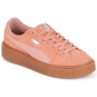 Zapatos Mujer Zapatillas bajas Puma Suede Platform Core Gum Rosa