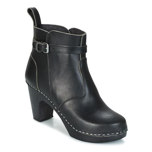 Zapatos de mujer baratos zapatos de mujer Zapatos especiales Swedish hasbeens HIGH HEELED JODHPUR Negro