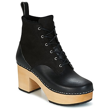 Zapatos Mujer Botines Swedish hasbeens HIPPIE LACE UP Negro