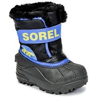 Zapatos Niños Botas de nieve Sorel CHILDRENS SNOW COMMANDER Negro / Azul