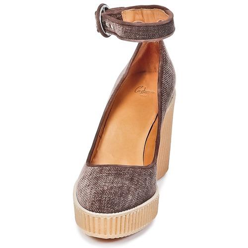 Marrón De Mujer Quintay Zapatos Tacón Castaner PXZOiku