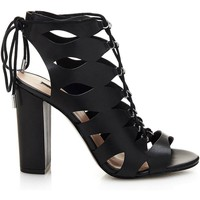 Zapatos Mujer Sandalias Guess FLEBI1 LEA03 High heeled sandals Mujeres Black Black