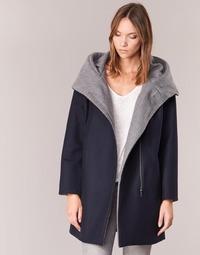 textil Mujer Abrigos S.Oliver DEMIZA Marino / Gris