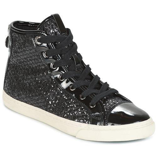 Zapatos casuales salvajes Geox D NEW CLUB Negro - Envío gratis Nueva promoción - Zapatos Deportivas altas Mujer  Negro