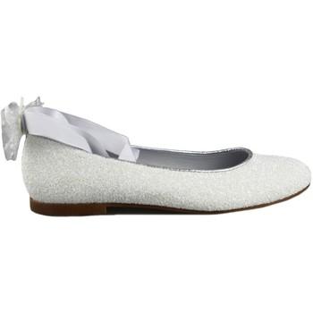 Zapatos Niña Bailarinas-manoletinas Oca Loca OCA LOCA COMUNION CINTAS BLANCO
