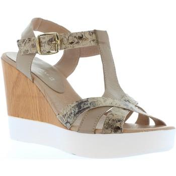Zapatos Mujer Sandalias Vaquetillas 20159 Beige