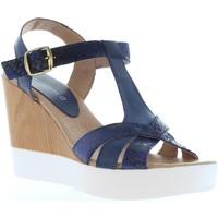 Zapatos Mujer Sandalias Vaquetillas 20159 Azul
