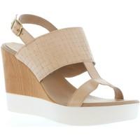 Zapatos Mujer Sandalias Vaquetillas 20143 Beige
