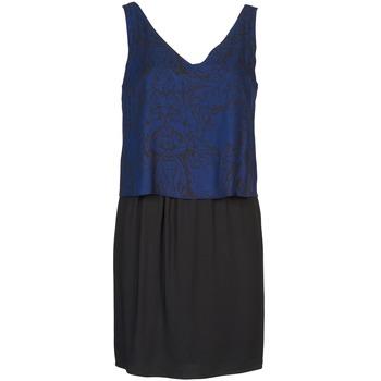 textil Mujer vestidos cortos Naf Naf LORRICE Negro / Azul