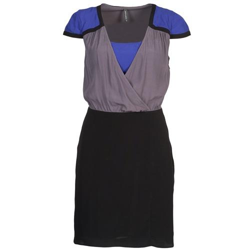 Textil Vestidos NegroGris Cortos Naf Mujer Azul Lyfan l1JTK3cF