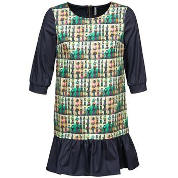 textil Mujer vestidos cortos Naf Naf ECAPS Negro / Multicolor