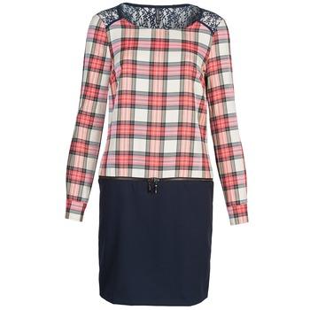 textil Mujer vestidos cortos Naf Naf KLEMS Marino / Rojo