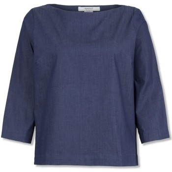 textil Mujer Tops / Blusas Gant Blusa Indigo Denim Azul
