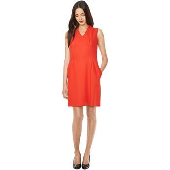 textil Mujer Vestidos cortos Gant Vestido Double Wool Twill Naranja