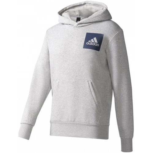 textil Hombre Jerséis adidas Originals Essentials Chest Logo Pullover Hood Fleece M Grises