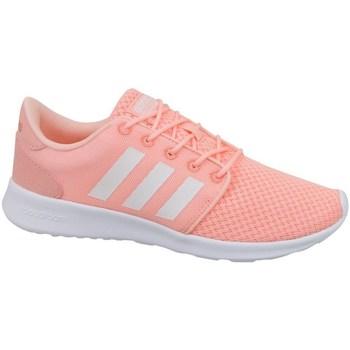 Zapatos Mujer Zapatillas bajas adidas Originals Cloudfoam QT Racer W Blanco-Rosa